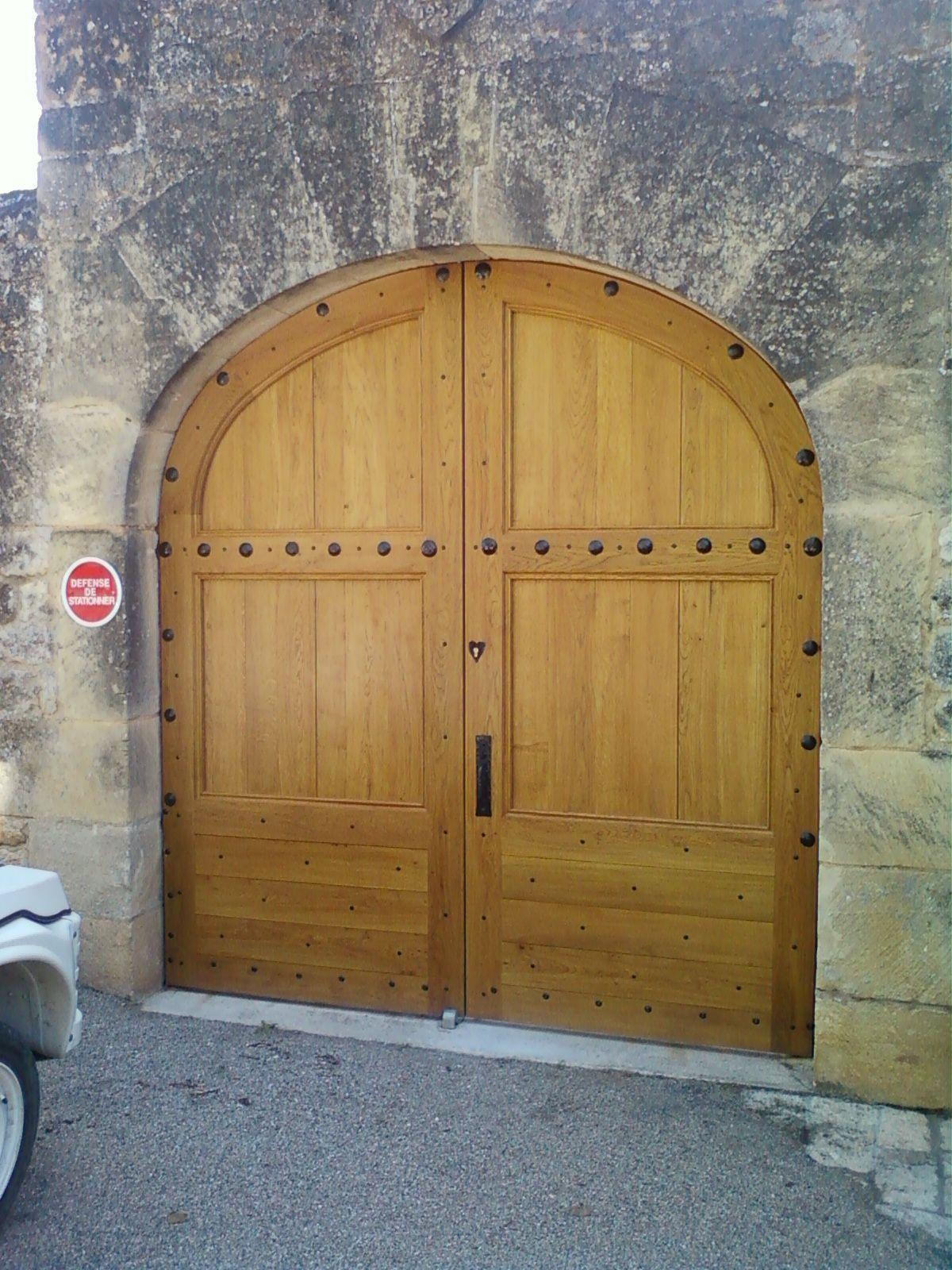 Porte coch re 2 vantaux avec en partie basse lames for Porte pyroplus 60