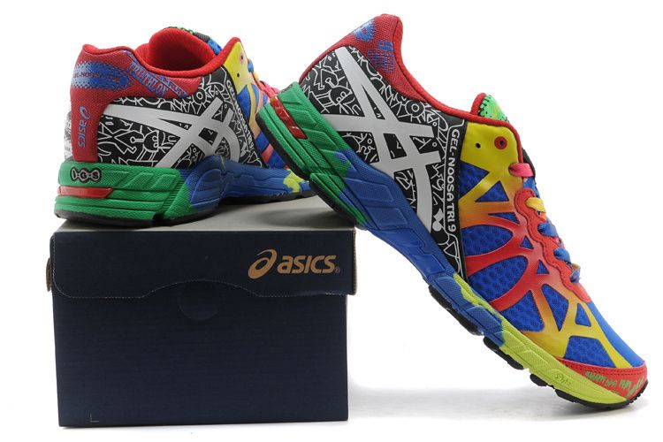 newest collection 4ec6e 0c6eb Asics Gel Noosa TRI 9 Mens Running Shoes Red Yellow Blue  onitsukatiger