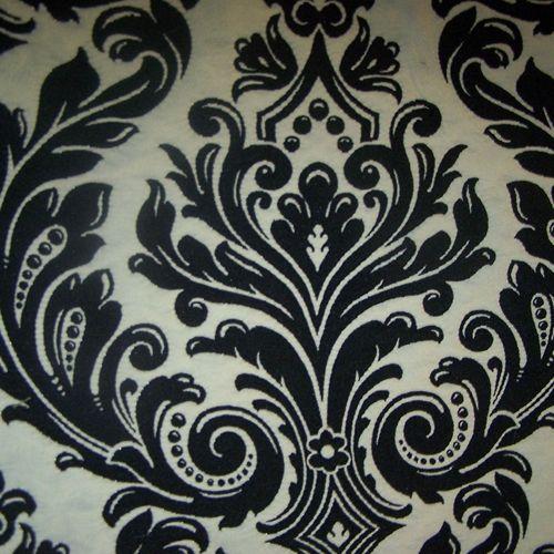 drapery fabrics - floral fabrics - Onyx Floral Upholstery Fabric by Barrow