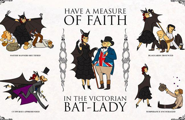 The Victorian Bat-Lady by John Allison