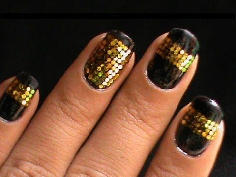 Glequin Nail Art How To Do Glequin Nails With Glequins Hexagonal