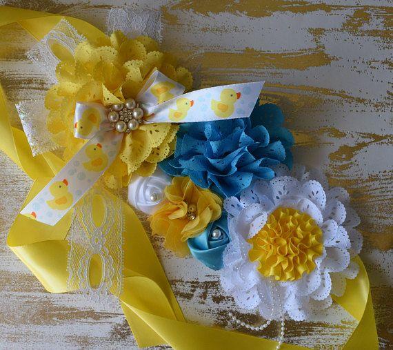 873597efa Duck maternity sash yellow maternity sash rubber duck baby