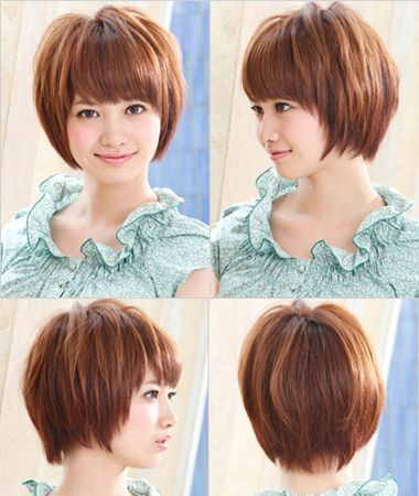 round face and asian hair style