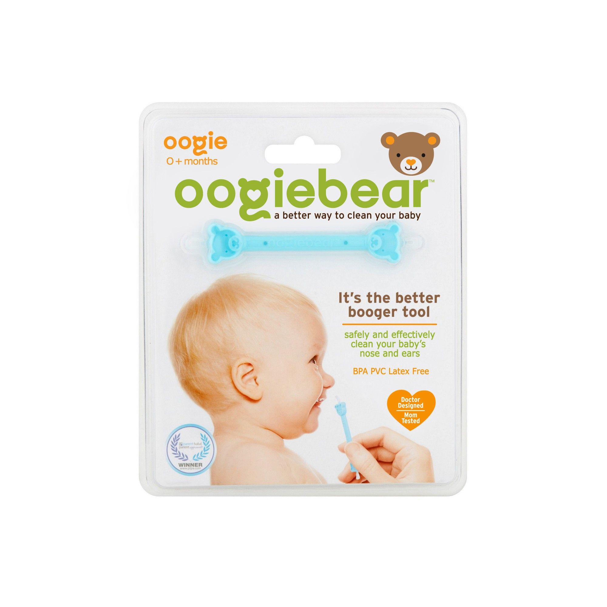 Oogiebear The Better Booger Tool Nose Ear Cleaner Blue Nose Cleaner Infant Ear Ear Cleaning