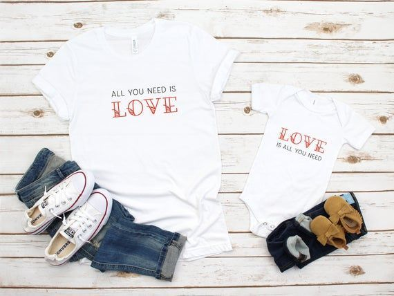 Valentine's Shirts for Mommy and Me, All You Need Is Love shirts, Mother Son Valentine's Shirts, Mot#love #mommy #mot #mother #shirts #son #valentines
