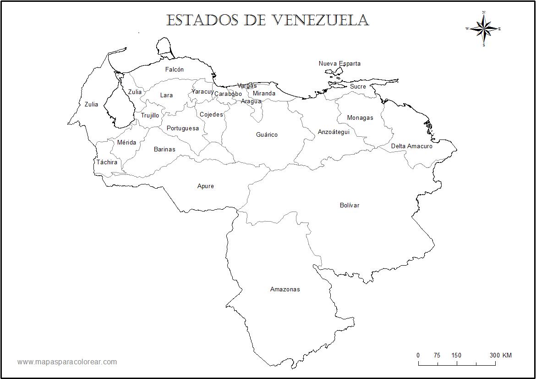 Mapa Venezuela Estados Nombres Png 1170 826 Map Image Diagram