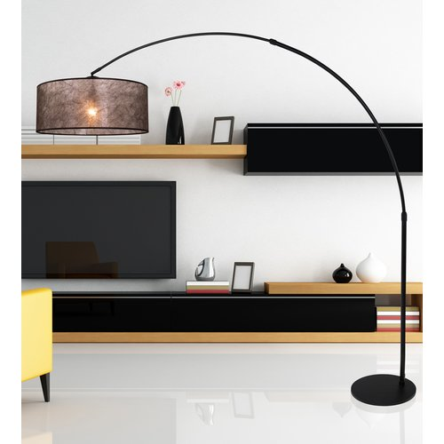 Brayden Studio Sakamoto 200cm Arched Floor Lamp Floor Lamp Black Floor Lamp Floor Lamp Base