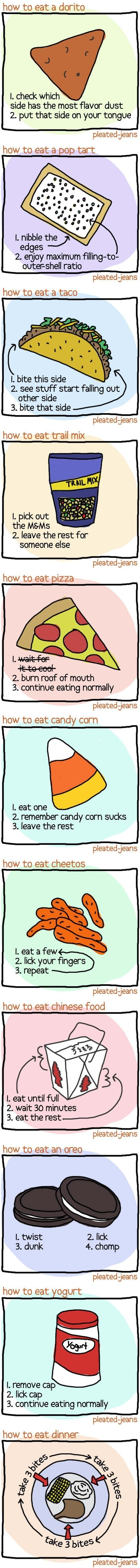 How To Eat…