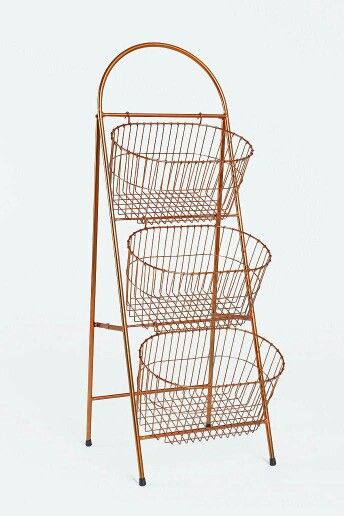 Urban Outfitters 3 Tier Basket Shelf Kids Toy Storage Bathroom Ladder Storage Dorm Decorations Storage Baskets