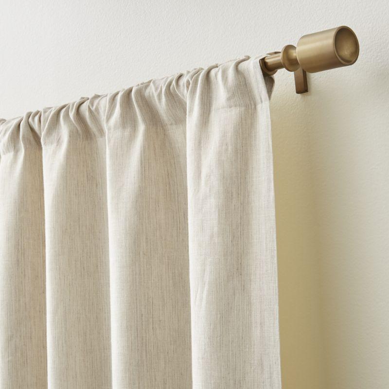Largo Natural Linen Blackout Curtain Panel 50 X84 Panel