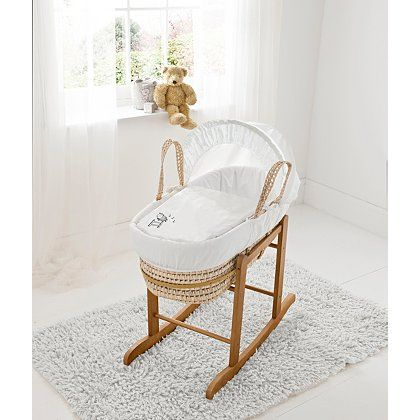 Kinder Valle Tiny Ted Moses Basket Crema
