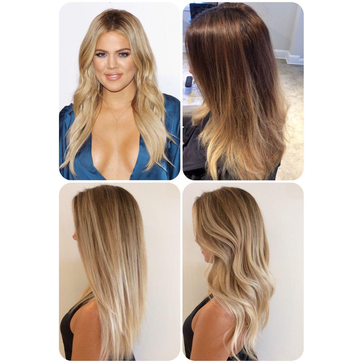 Khloe Kardashian inspired blonde