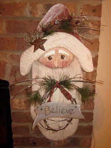 Primitive Santa Wood Santa Primitive wood Santa por LnMPrimitives