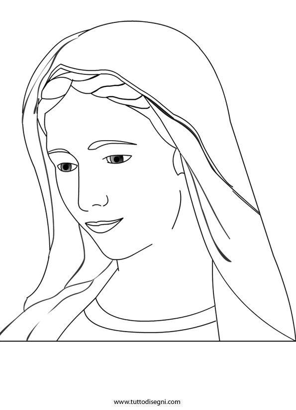Disegno Madonna Disegni Sacro Drawing Lessons String Art E Art