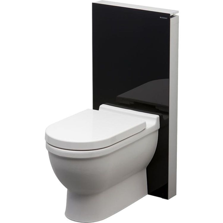Geberit 131 144 Sf 1 Glass Monolith System For Floor Standing Toilets Back To Wall Toilets Space Saving Toilet Geberit Toilet