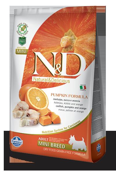 Codfish & Orange Adult Mini Dog food recipes, Grain free