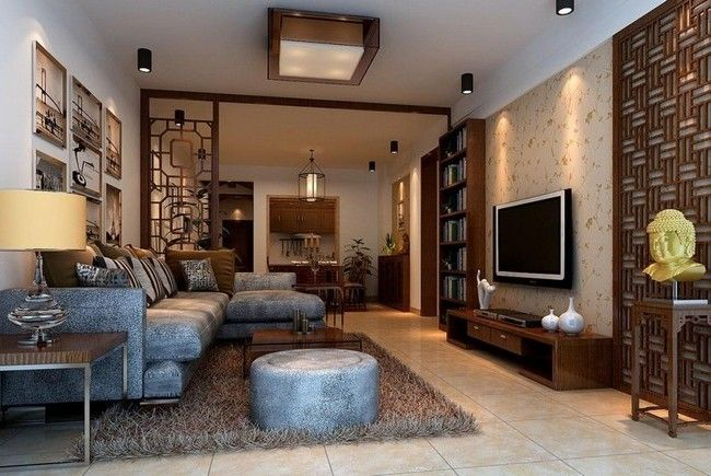 Asian Style Interior Design Ideas Narrow Living Room Design