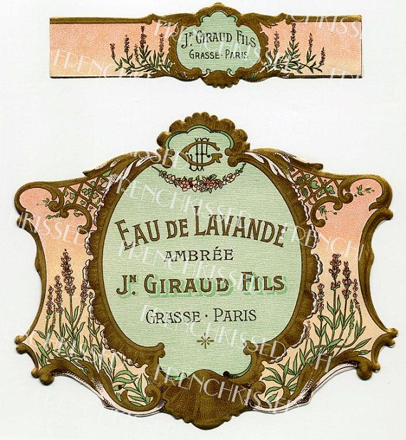 Instant Download LAVENDER French PERFUME label by FrenchKissed
