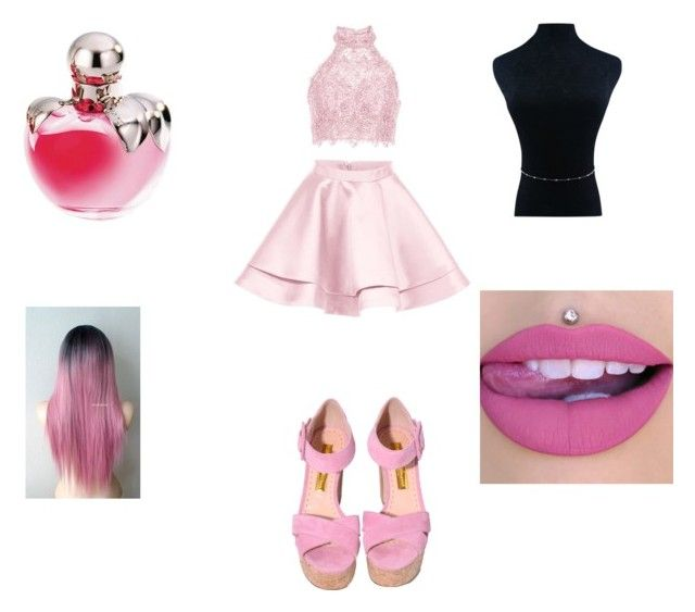"""""""All Barbie"""" by waliyahsadiku ❤ liked on Polyvore featuring Alyce Paris and Nina Ricci"""