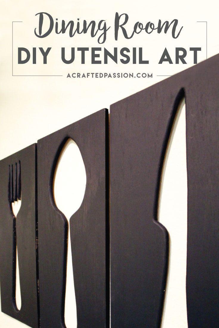 How to make giant utensil wall art creative wall decor creative