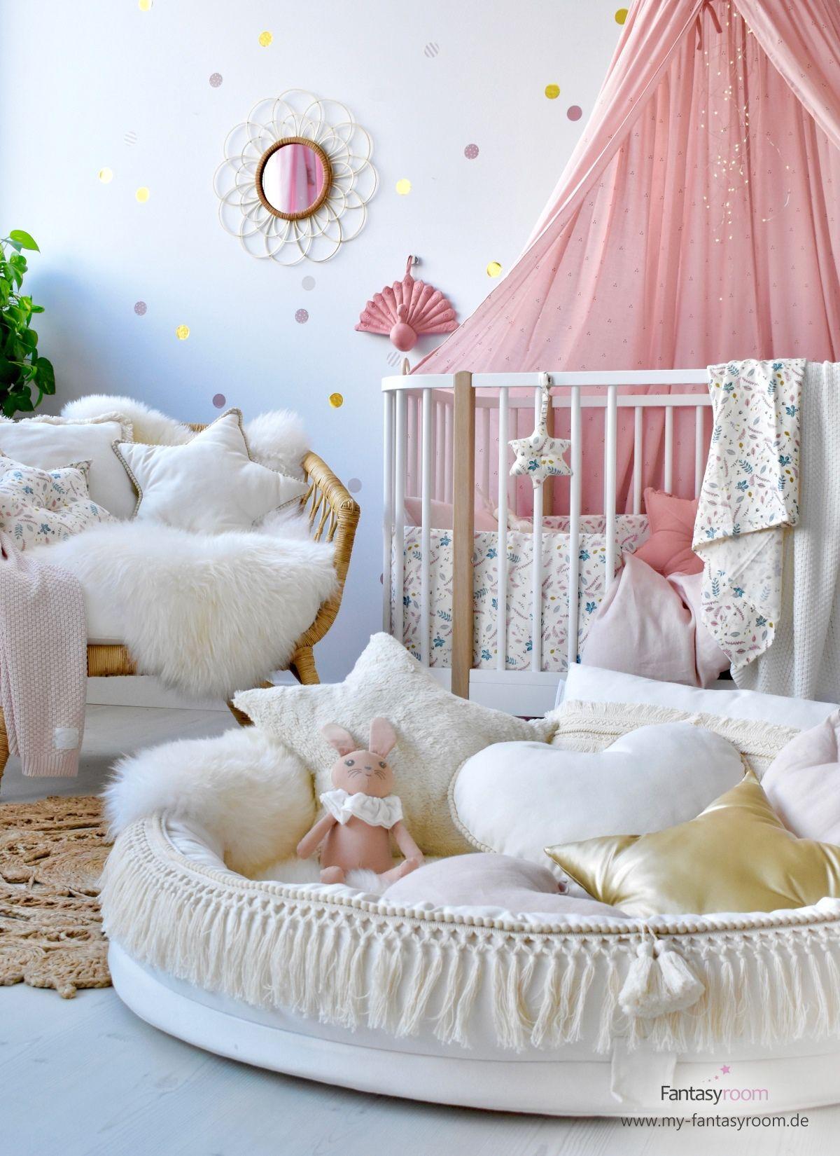Mädchen Babyzimmer In Altrosa Creme Bei Fantasyroom Online Kaufen