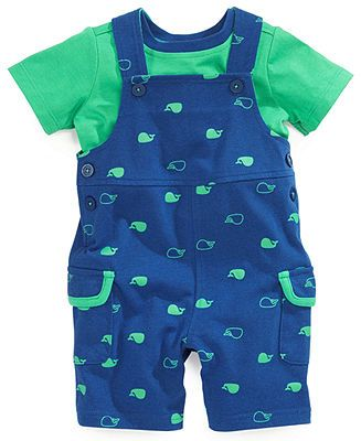 2a5c8b2a0 First Impressions Baby Boys  2-Piece Tee   Shortall Set - Kids Baby ...
