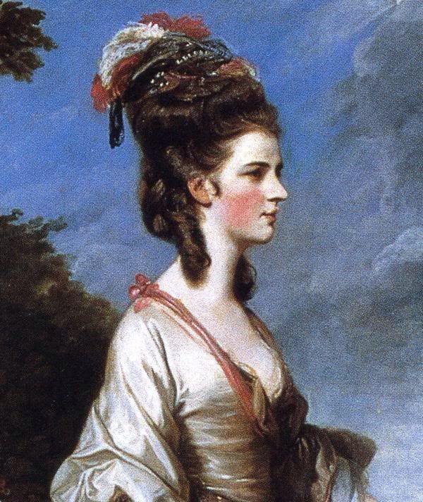 Jane, Countess of Harrington. Detail. 1775