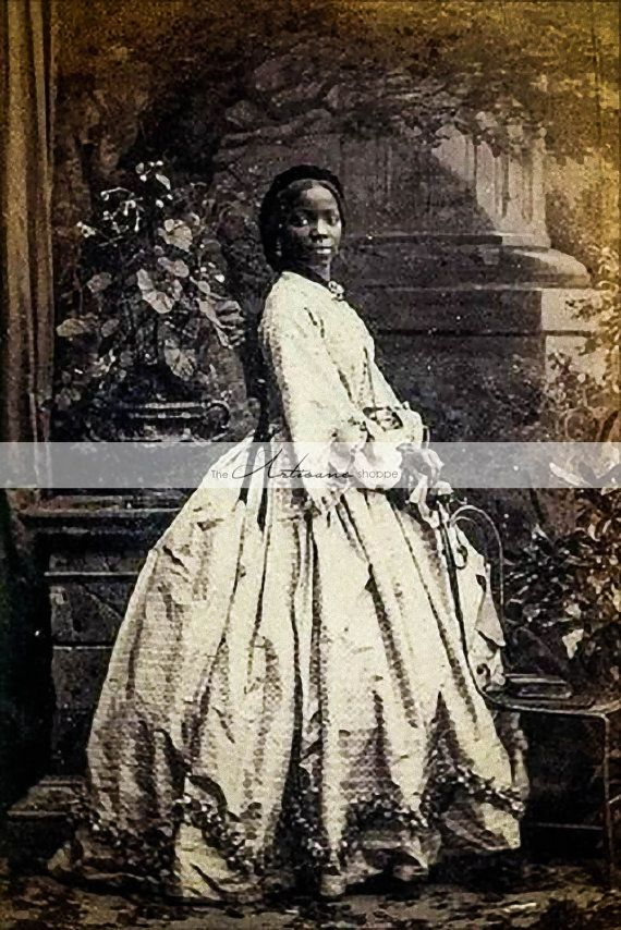 Instant Art Printable Download Victorian Woman African American