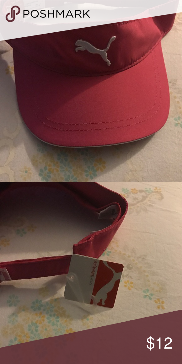 fb53378a97463 Red Puma sun visor cap New with tag Red color Puma Other