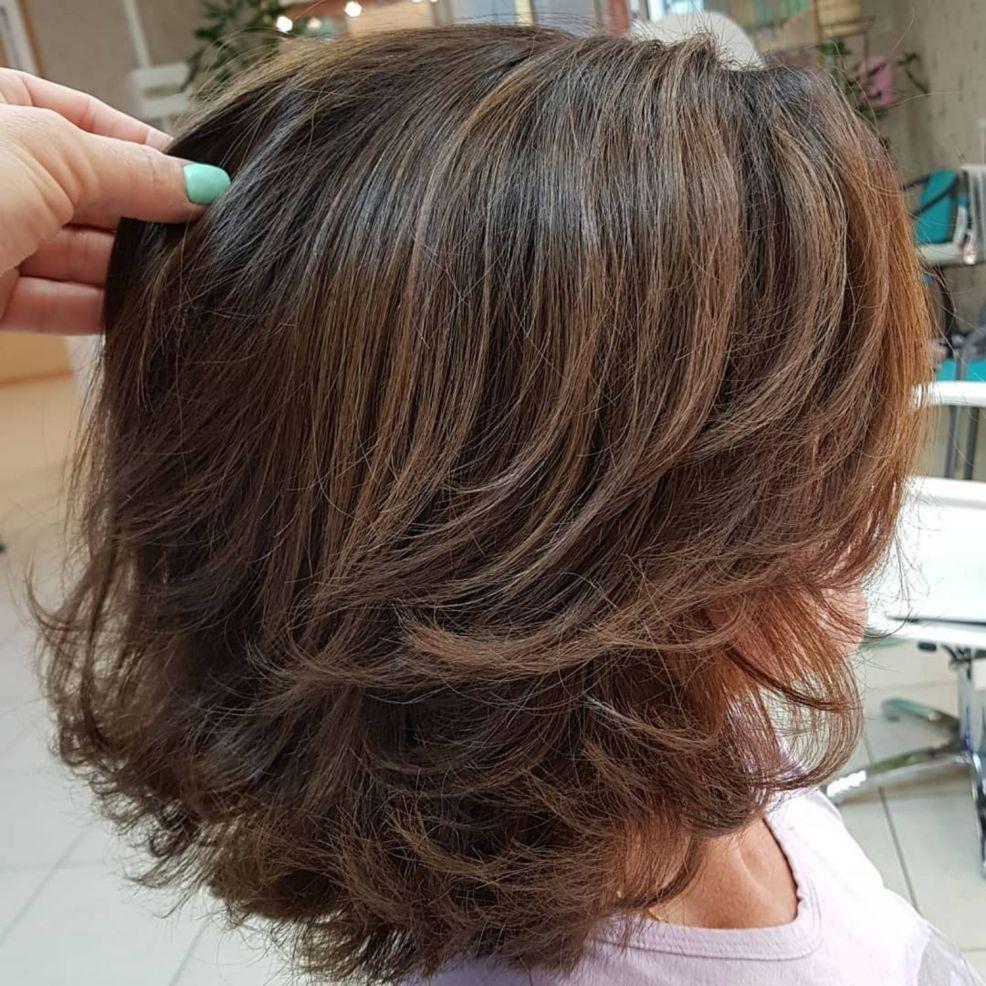 80 Sensational Medium Length Haircuts For Thick Hair Medium Length Hair With Layers Thick Hair Styles Brown Layered Hair