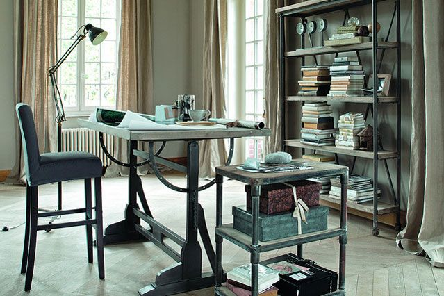 Elegant industrial office designs and industrial for Elegant home office decorating ideas