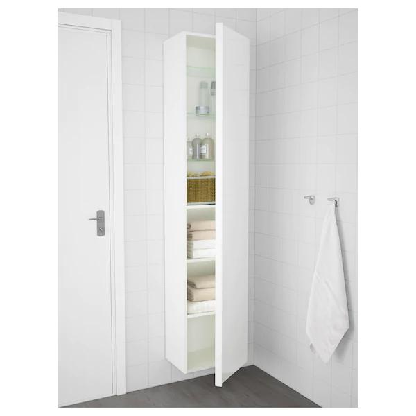 Godmorgon Colonne Brillant Blanc 40x32x192 Cm Ikea Ikea Armoire Salle De Bain Salle De Bain