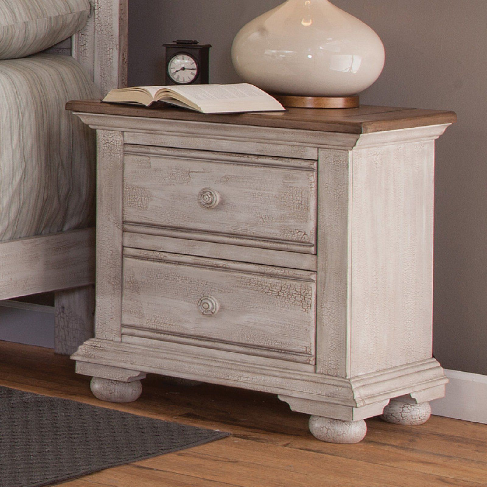 Fantastic American Woodcrafters Cottage Traditions 2 Drawer Nightstand Best Image Libraries Counlowcountryjoecom