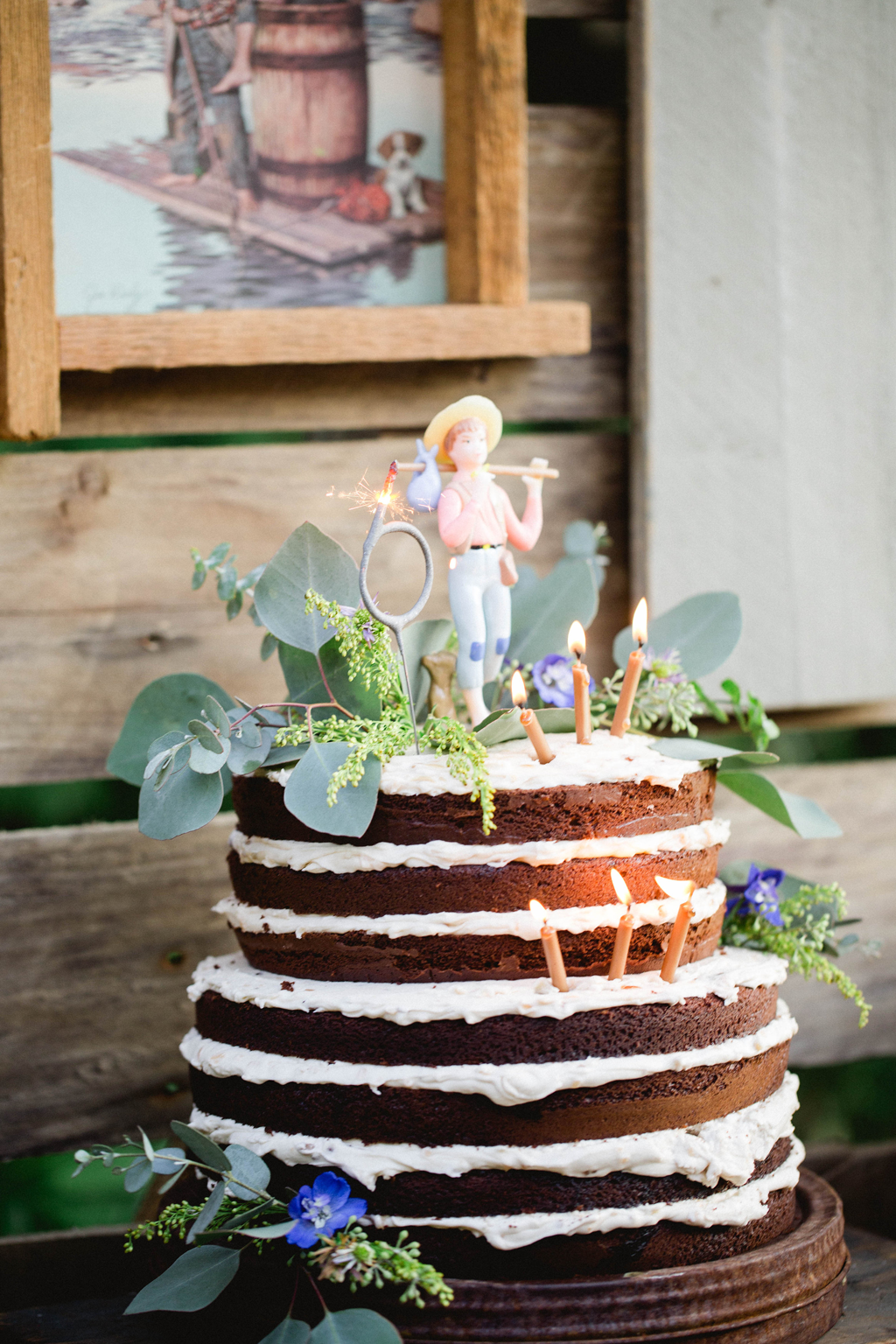 Naked Cake We Love This Idea For A Rustic Birthday Party