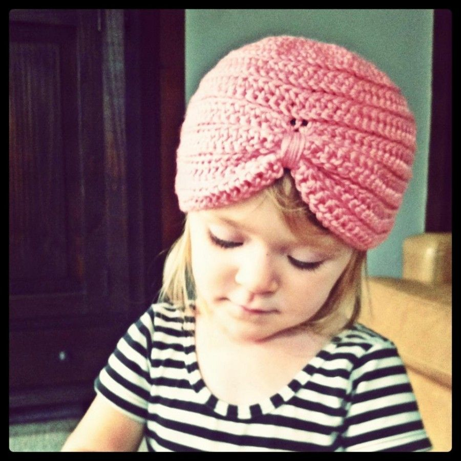 Free Crochet Pattern Baby Turban : @Carrie Lundell crocheted this cute baby turban using ...