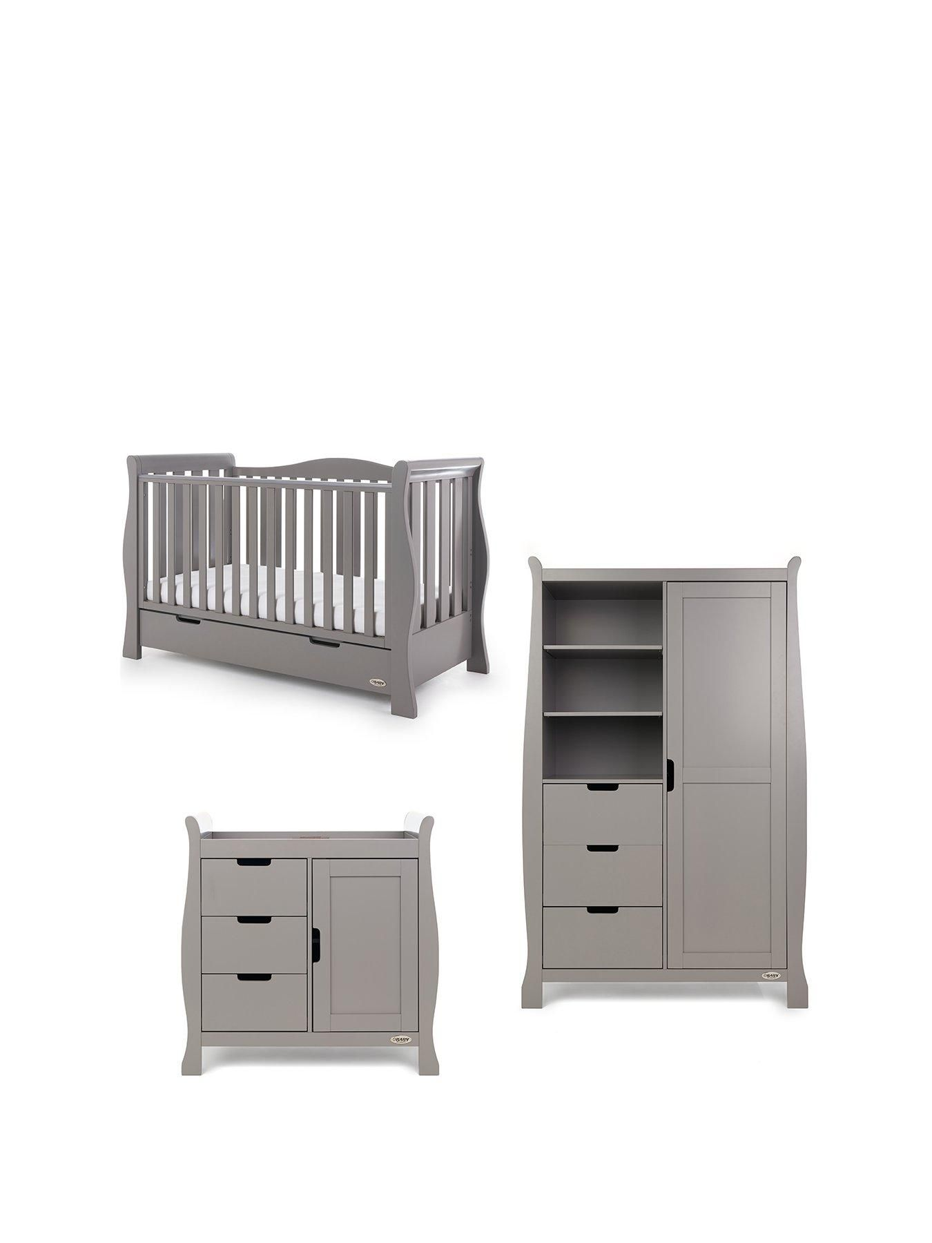 Stamford Luxe Sleigh 3 Piece Nursery Furniture Set Nursery