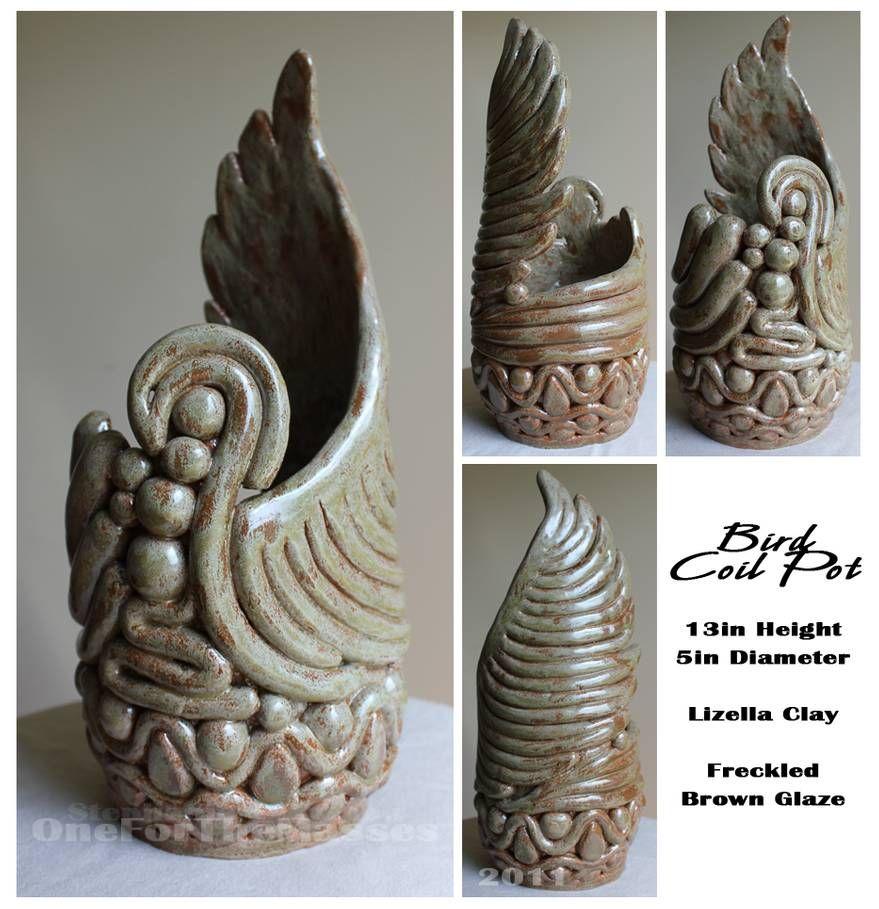 Bird Coil Pot by OneForTheMasses on DeviantArt