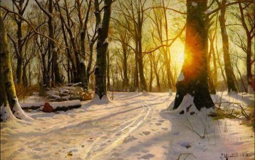 Winter Day in Charlottenlund - Peder Mork Monsted