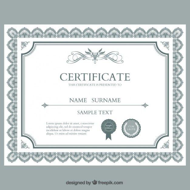 CertificadoDiplomaModelo  Recursos Grficos  Vectores