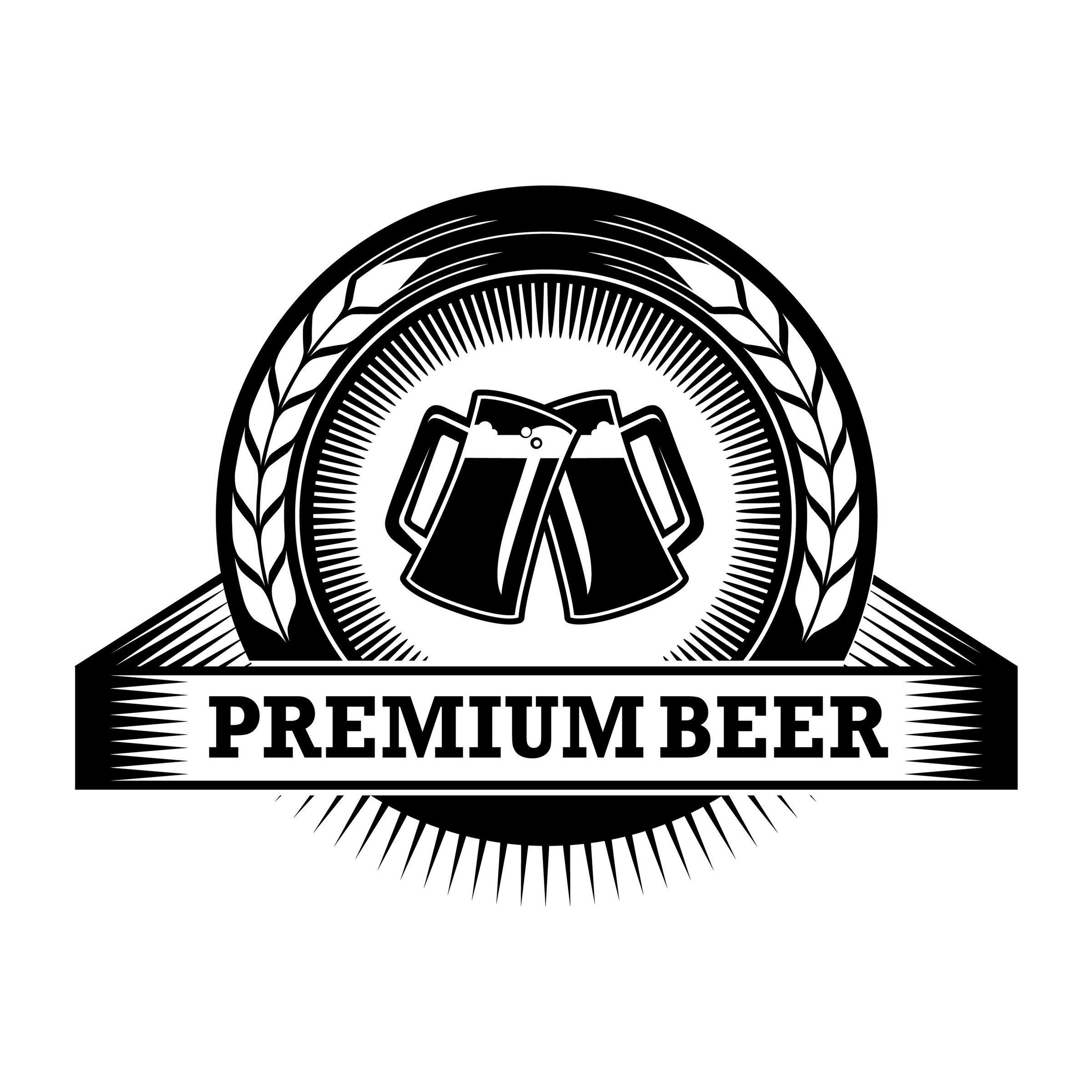 Beer Logo 29 Barrel Pub Bar Tavern Brew Brewery Barley Etsy In 2021 Beer Logo Beer Drinks Logo