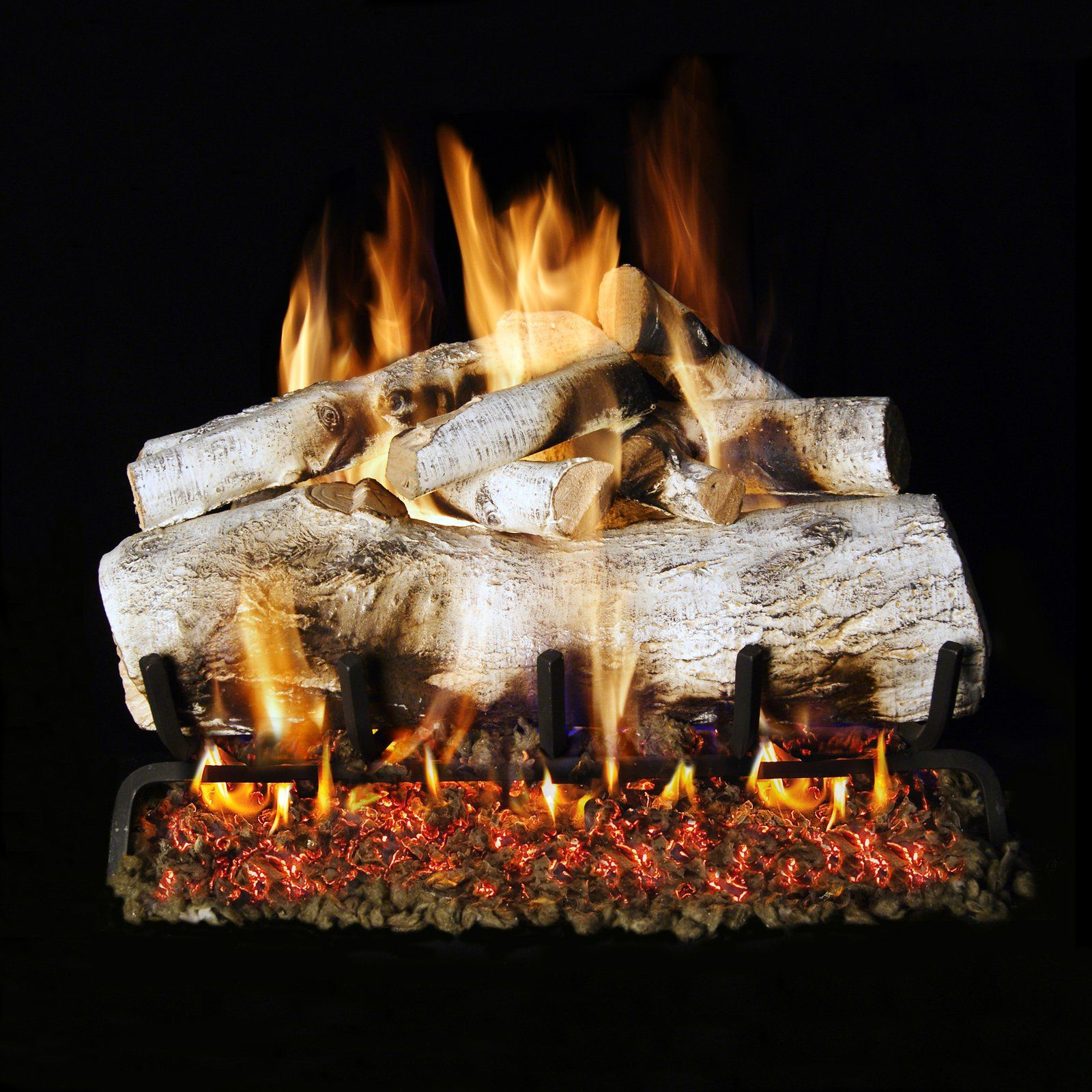 Real Fyre Vented Mountain Birch Gas Logs Fireplaces in