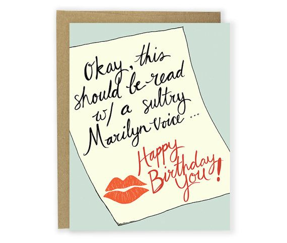 Birthday Card Marilyn Voice Happy Birthday Funny Birthday Card – Voice Birthday Cards