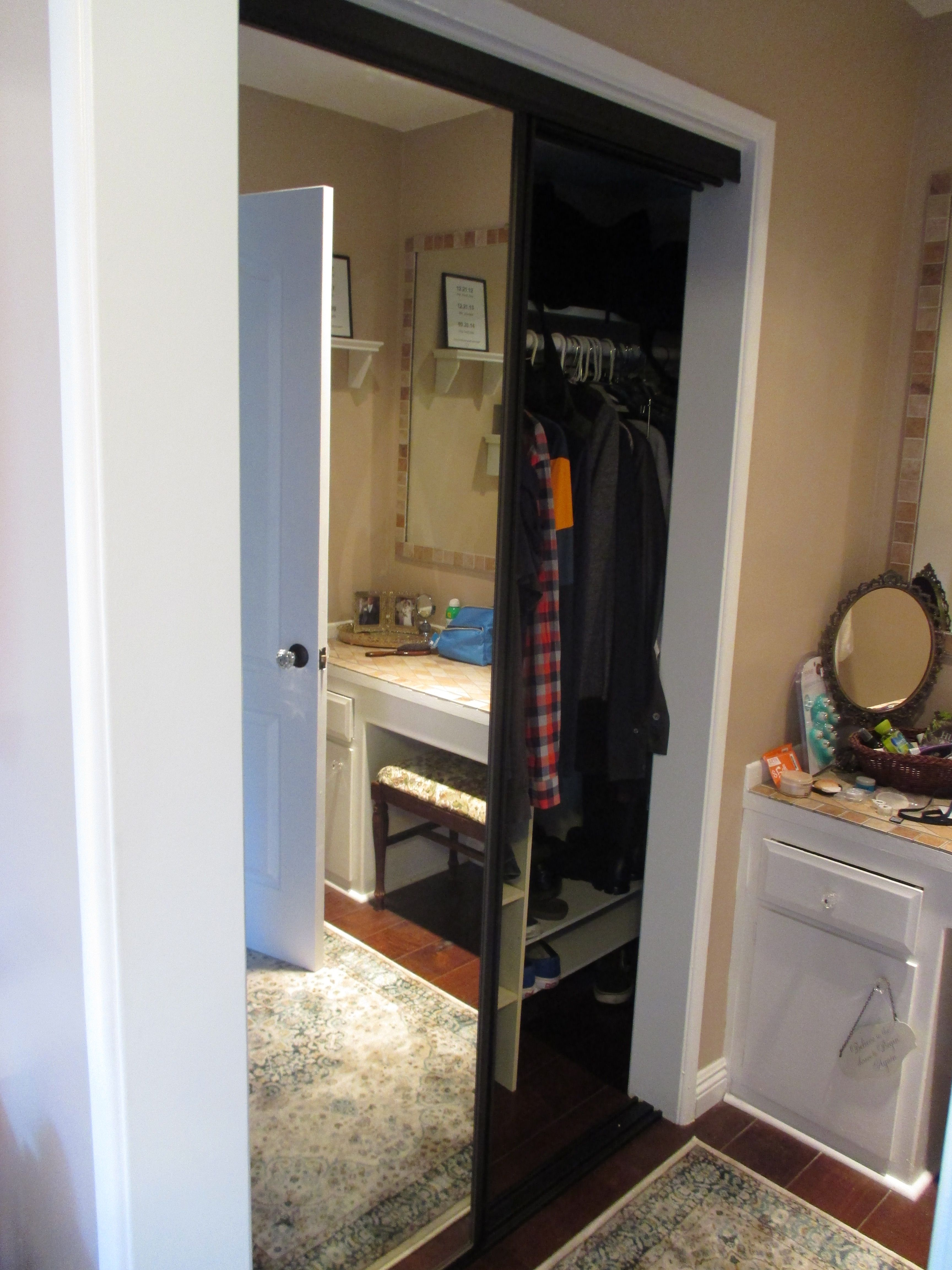 Concord Contractors Wardrobe Bypass Closet Doors. Are you looking for a dark  bronze aluminum frame