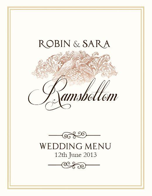 FREE Wedding Menu Design - Photoshop Templates Wedding menu