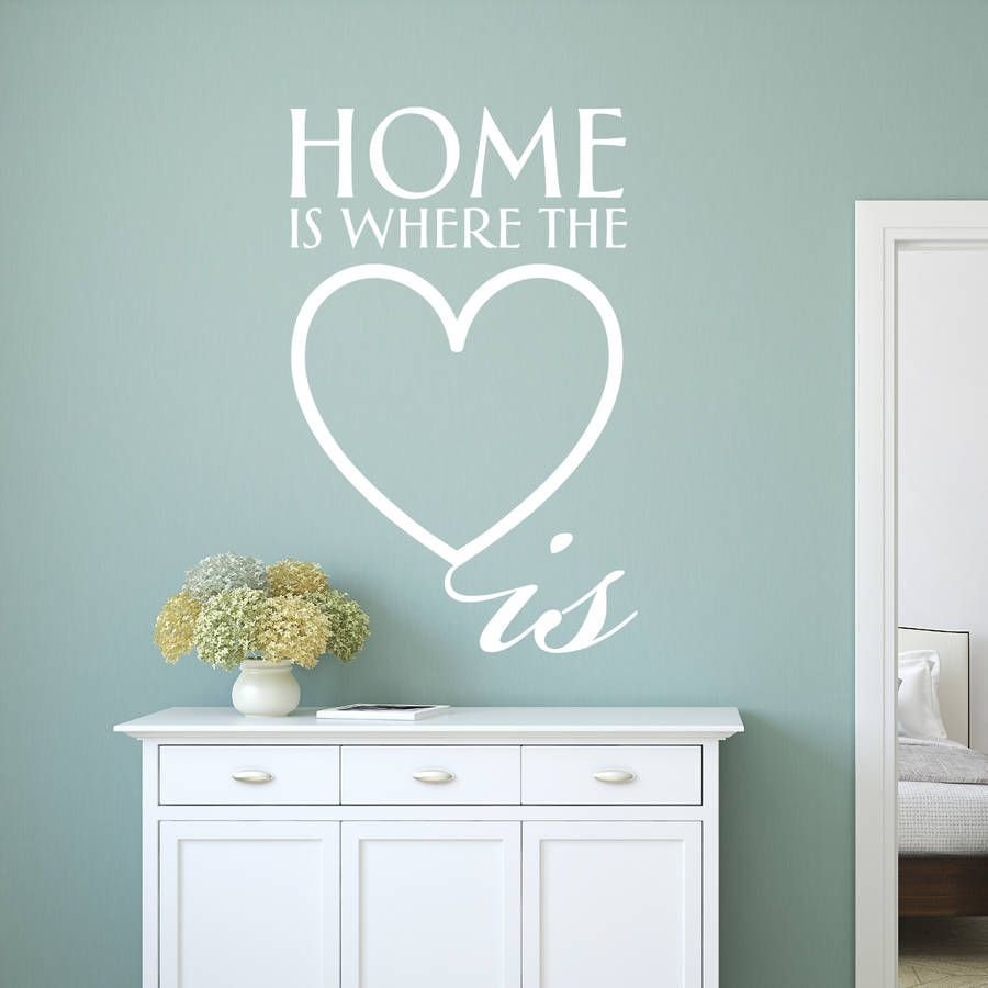 'Home Is Where The Heart Is' Wall Sticker