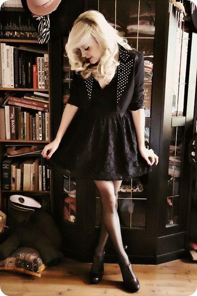 black-lace-primark-dress-black-new-yorker-blazer-dark-brown-aldo-heels_400.jpg (400×600)