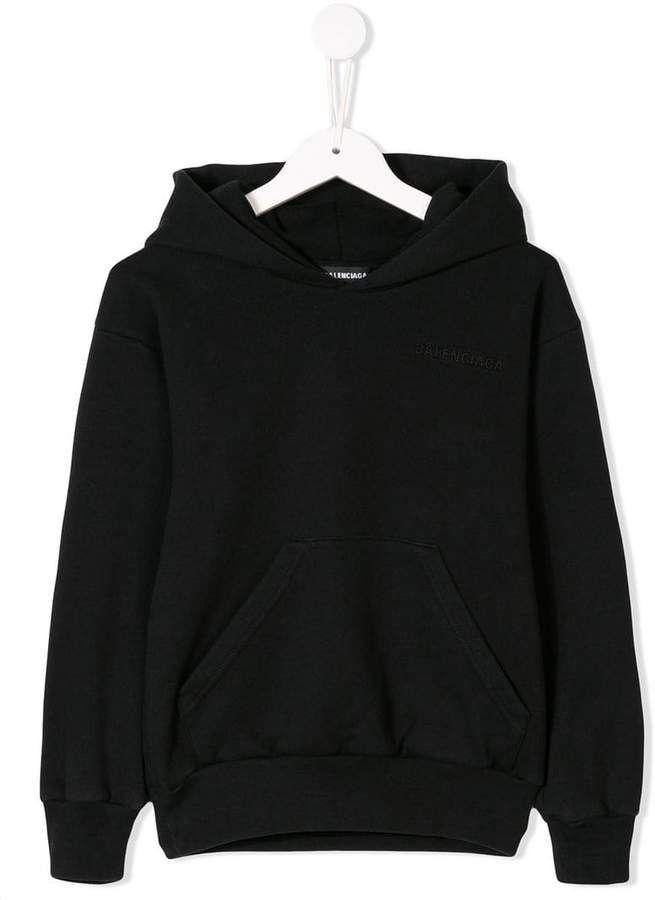 1d222ec1ba74 Balenciaga Kids logo embroidered hoodie in 2019