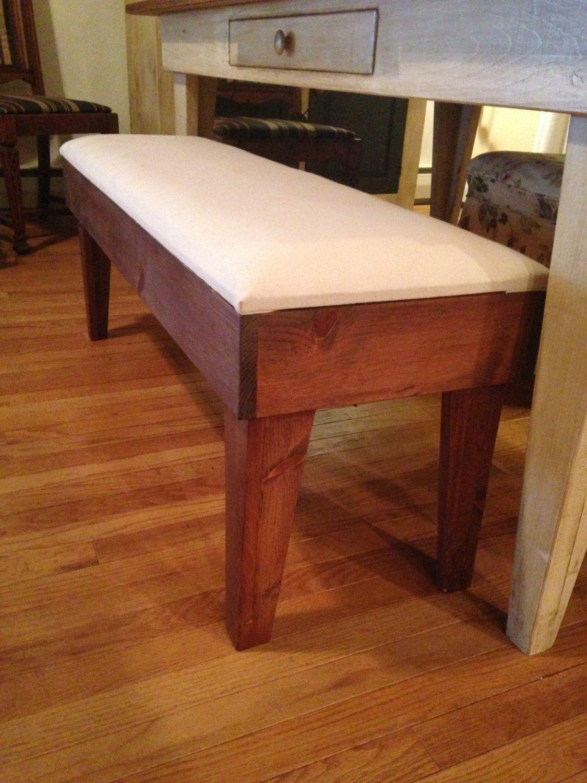 Pine Table Bench Seat Cushion, Kitchen bench, farmhouse