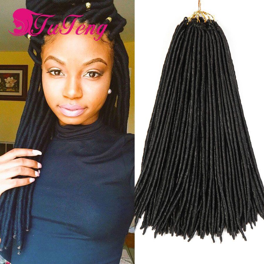 Faux Locs Crochet Hair Dreadlock Extensions 18 Inch Best Quality Twist 24strand
