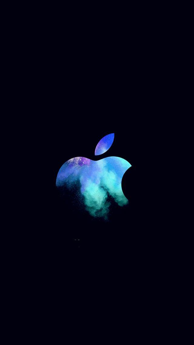 Apple Mac Event Logo Dark Illustration Art Blue Iphone 5s
